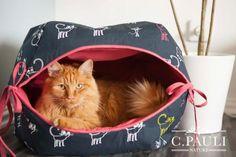 Katzenhöhle zum Schlafen und Spielen - Freebook - Nähtalente