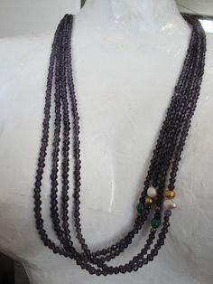 Celebra el estar vivo, y muestra tu mejor espectáculo con este hermoso concepto de #amor #collar de 4 tiras color uva con #perlas del río #amatista #granate. Luce #chic #glam. Aprovecha el día de hoy que es de envíos #gratis a toda la república mexicana tienes hasta las 11:59 pm, visita nuestra tienda en línea https://www.kichink.com/stores/confettyjoyeriamexicana#.U9LitONdWSp