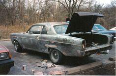 Bare metal 66 Ford Fairlane