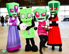Invader Zim cosplayers (The tallest, Zim, Gir, piggy and a moose) at Melbourne Supanova 2012, Day 2