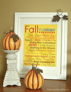 Fall Vignette & Free Subway Printable Inspired ~ Fall Nesting Idea at AnExtraordinaryDay.net