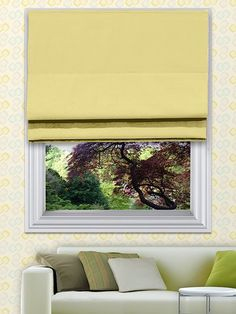 Curtis Lemon Roman Blinds - The Curtis roman blind range can be made with standard or blackout lining. The blackout lining can only be made with roman blinds with a deluxe headrail system. With the deluxe system you can also have the blind made with a White, Antique, Black or Chrome control chain.