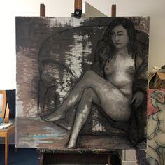 naughty queen / oil,canvas 100 x 100 cm