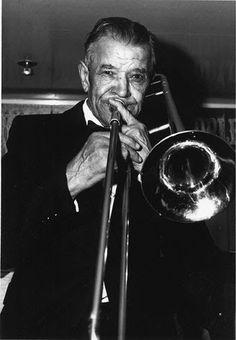"Edward ""Kid"" Ory  (December 25, 1886-January 23, 1973), jazz trombonist and bandleader"