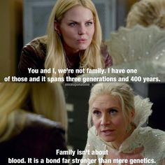 Hey, Snow Queen! If Emma doesn't want to be part of your family, you can adopt me. I'll gladly join! <3 You can teach me your ways, & we'll do evil together! :)