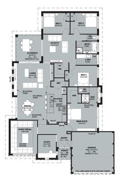 Home Builders Perth Model House Plan, New House Plans, Dream House Plans, House Floor Plans, Building Plans, Building A House, Home Design Floor Plans, Floor Layout, New Home Builders