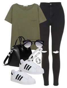 A fashion look from July 2016 featuring olive t shirt, zipper skinny jeans and structured purse. Browse and shop related looks. School Fashion, All Fashion, Fashion 2017, Urban Fashion, Everyday Fashion, Fashion Trends, Summer Outfits, Casual Outfits, Issa