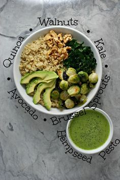 Green Goddess Balance Bowl with Hempseed Pesto Dressing ~vegan, gluten free~ A perfectly balanced meal made easy!