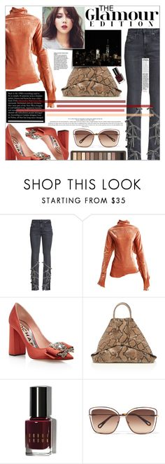 """""""snakeskin & ruffles & bows, oh my!"""" by chocohearts08 ❤ liked on Polyvore featuring Romance Was Born, Paula Knorr, Rochas, INDIE HAIR, Akris, Bobbi Brown Cosmetics, Chloé and Urban Decay"""