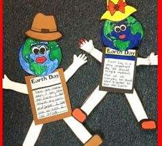 Earth Day Girl and Boy - A fun writing activity for students to use with your Earth Day Unit. #TpT #Writing #Earthday