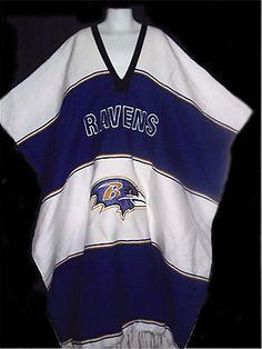NFL Football BALTIMORE RAVENS Mexican PONCHO Purple White SERAPE Mens  Womans EXC 64d0d2ef4