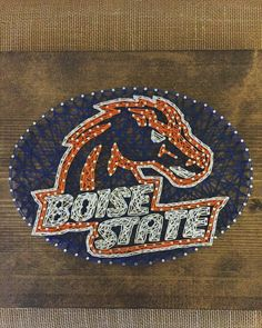 Boise State Broncos Logo. 12x12 board.  #ExcellThreads #BoiseState #StringArt  To order, email: excell.threads@gmail.com Custom orders also available.