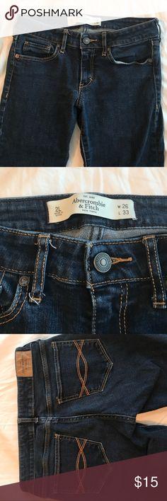 Abercrombie skinny jeans Abercrombie skinny jeans. Size 2L (waist 26, length 33) Abercrombie & Fitch Jeans Skinny