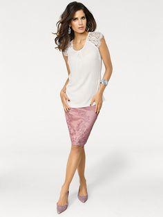 9250cf2fba71 Ashley Brooke by heine - Spitzenrock rosé im heine Online-Shop kaufen