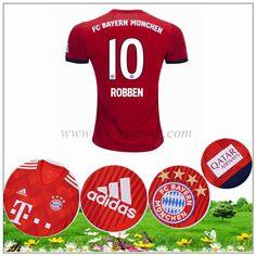 Footscenter  Maillot Bayern Munich Arjen Robben 10 Domicile Rouge 2018 2019 025052deb