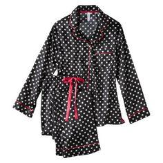 Gilligan & O'Malley® Women's Satin Pajama Set - Assorted Patterns/Colors sz large