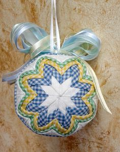 Quilted Folded Fabric Ornament by QuiltersPantry on Etsy