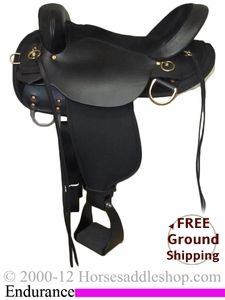 """SOLD 2/15/13 $751.50 16"""" High Horse Endurance Saddle, Wide Tree 6916 CLEARANCE *Free Shipping*"""