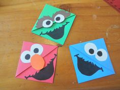 Sesame Street Bookmarks by CornerBookMarks on Etsy, $4.00