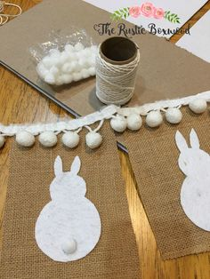 DIY and No-Sew Pottery Barn Inspired Bunny Banner