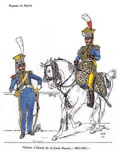 Kingdom of Naples;Royal Guard, Velites a Cheval 1807-08