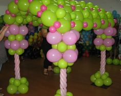 Decorating with balloons~ balloon tunnel or fort!