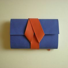 Vegan Pocket Sketchbook - Blue & Orange - Folksy