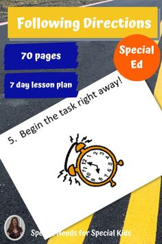 This unit on how to follow directions and pay attention was developed for students with autism and other special learning needs in elementary school. It focuses on following verbal as well as written directions. The activities are fun, engaging, and easy to differentiate. There is a 7 day lesson plan with group activities to help you make the most of these materials. Great as a back to school unit!! #specialneedsforspecialkids #backtoschool #followingdirections #specialeducation #specialed Sorting Activities, Group Activities, Circle Map, Following Directions, Special Kids, Special Education Classroom, Second Grade, Elementary Schools, Lesson Plans