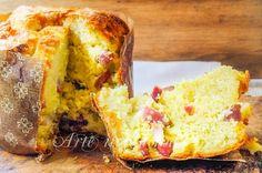 Panettone salato ripieno, ricetta veloce, senza lievitazione SOLO SU ARTE IN CUCINA