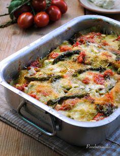 Lasagnetta agli asparagi con ricotta e pomodorini