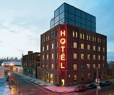 Wythe Hotel is a Wedding Venue in Williamsburg, New York, United States, Brooklyn. See photos and contact Wythe Hotel for a tour. Hotel Rooftop Bar, Best Rooftop Bars, Wythe Hotel Brooklyn, Brooklyn Nyc, Monuments, Ville New York, Williamsburg Brooklyn, Adaptive Reuse, Museum