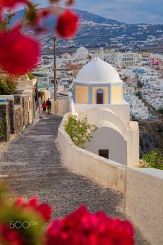 Spring time on Santorini island in Greece by Tomas Marek Places Around The World, The Places Youll Go, Places To Visit, Around The Worlds, Fira Santorini, Santorini Island, Mykonos, Beautiful World, Beautiful Places