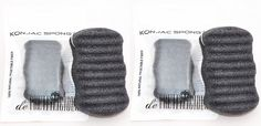 TWIN PACK Bamboo Charcoal Konjac Cleansing Sponge. ON SALES NOW! Body - Facial Sponge - FREE BEAUTY e-BOOK! BEST GIFT FOR HER and HIM, Birthday, Thanksgiving, Christmas. -- See this great product.
