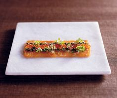 Salmon carpaccio with preserved lemon and chilli from Christine Manfield's Fire & Spice. Photograph © Anson Smart.