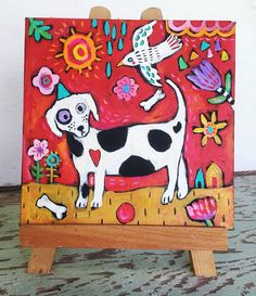✿Spring and dogs♥ by Veronica Mormone on Etsy