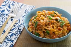 Chicken & Basil Fettuccine Pasta with Mascarpone & Plum Tomatoes