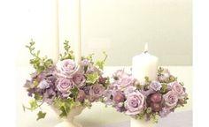 Déco fleurs + bougies