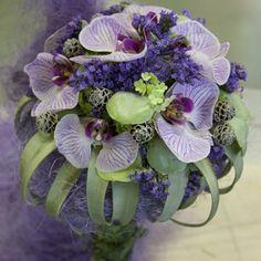 Bruidsboeket orchidee paars