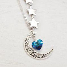 Znalezione obrazy dla zapytania moon and star necklace