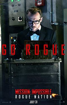 Simon Pegg in Mission: Impossible - Rogue Nation Rogue Nation, Simon Pegg, Mission Impossible, Rogues, Doctor Who, Science Fiction, Tv Shows, Actors, Movie Posters
