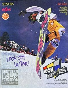 Vintage Lamar Look Snowboard