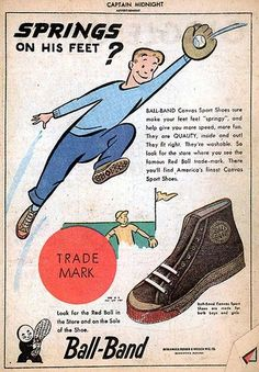 Are those CHUCKS??? Vintage Ball-Band sneaker ad which ran in comic books.