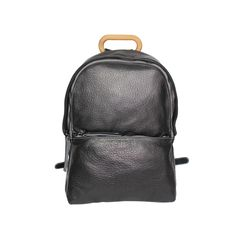 NAOKO black leather backpack style 5