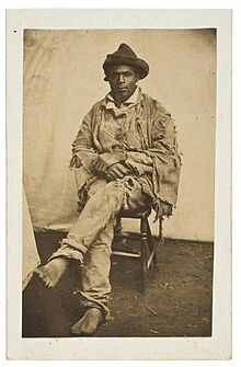 Gordon, or Whipped Peter, was an enslaved African American who escaped from his Louisiana plantation in March 1863, gaining freedom when he reached the Union camp near Baton Rouge. He became known as the subject of photographs documenting the extensive scarring of his back from whippings received in slavery. Abolitionists distributed these carte de visite photographs of Gordon throughout the United States and internationally to show the abuses of slavery.