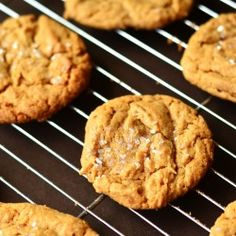 Simple Peanut Butter Cookies1 cup creamy peanut butter  1 cup firmly packed brown sugar  1 large egg  1 teaspoon baking soda  Instructions  Combine all ingredients until well blended. Drop by teaspoonfuls on ungreased cookie sheets. Bake at 350 degrees for 8-9 minutes