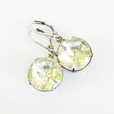 Solitaire Drop Earrings Crystal now featured on Fab.