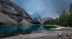 Moraine Lake - null Moraine Lake, Landscapes, Mountains, Nature, Travel, Paisajes, Viajes, Naturaleza, Destinations