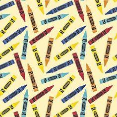 Riley Blake Designs - Colorfully Creative - Crayola Crayon in Yellow
