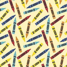 Riley Blake Designs - Colorfully Creative - Crayola Crayon in Yellow