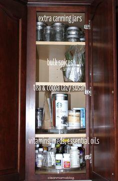 Lazy susans for upper corner cabinet (use for vitamins/meds)